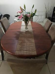Urgent Sale 6 Seater Solid Timber Dining Table W Chairs