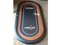 Redtooth poker set folding table mat and chip set