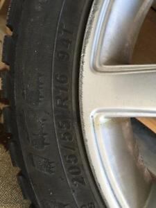 Buy 3 Get One Free! 4 Winter Tires on Winter Alloy Rims Cambridge Kitchener Area image 3