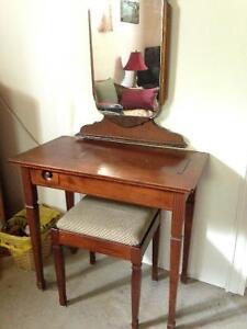 ANTIQUE SEWING TABLE,BENCH,MIRROR [SACKVILLE NB]