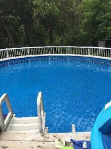 """Get an early start for summer 2017- 24"""" above ground pool"""