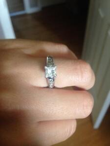 0.70 princess cut engagement ring