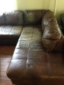 Sectional Couch needs slipcover FREE from very clean home