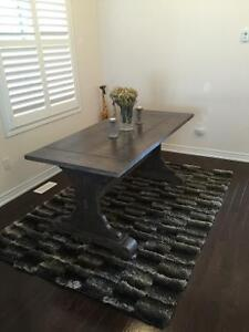 Beautiful Rustic Trestle/ Harvest table for sale!