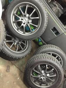 """17"""" alloys and winter tires Hyundai Genesis Will fit many others"""