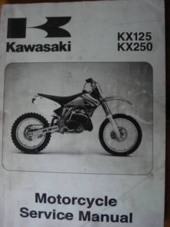 KAWASAKI  KX125 KX250  FACTORY WORKSHOP  SERVICE MANUAL  c2004 Dianella Stirling Area Preview