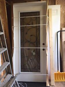 New Exterior Door / vinyl sliding window