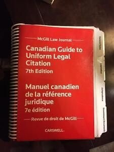 Canadian Guide to Uniform Legal Citation 7th ed
