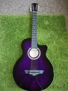 """Brand New 38"""" Steel String Acoustic Wooden Guitar with bonus Capo Macquarie Park Ryde Area Preview"""