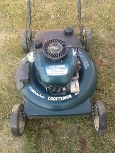 "craftsman 22"" gas lawn mower 4.5 excellent condition"