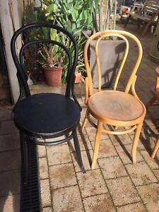 2 Old Bentwood Chairs Beckenham Gosnells Area Preview