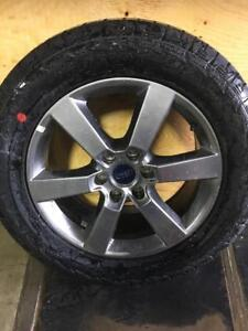 """CALGARY) TRAX 0034 . FORD 2017 20"""" TAKE OFF RIMS AND TIRES HANKOOK 275/55R20 $1400 set"""