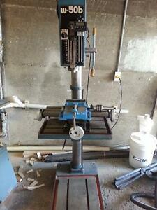 Industrial drill press with compound table to use for milling