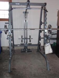 Keys Fitness Olympic Power Rack + Lat Attachment