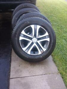 BRAND NEW TAKE OFF TOYOTA RAV4 FACTORY OEM STEEL WHEELS WITH HIGH PERFORMANCE 225 / 65 / 17 ALL SEASON TIRES.