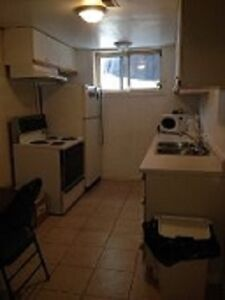 One Bed Basement Apt all furnished $ 575 Washer & Dryer incl.
