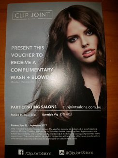 CLIP JOINT FREE WASH & BLOWDRY VOUCHER