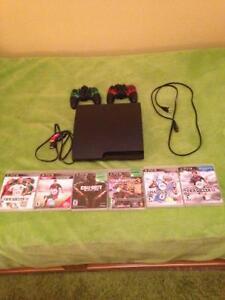 PS3 500GB+6 jeux+ 2 mannettes