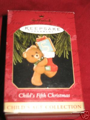 Childs Fifth Christmas Ornament - 1997 Hallmark Christmas Ornament Childs Fifth Christmas