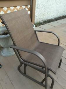 Two glider chairs
