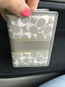 Coach card holder and change pouch