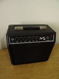 Squier 15 (by Fender), practice guitar amp, 15 watts