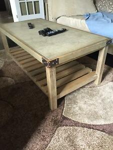 Coffee table with 2 end tables 3 piece set