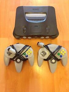 N64, 2 Controllers and Excite Bike 64