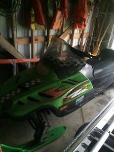 double wide trailer with ski doo