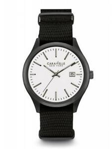 Caravelle New York Men's Quartz Stainless Steel Dress Watch (Mod  45B142