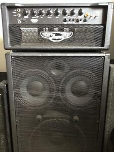 Traynor bass amp with matching cabinet