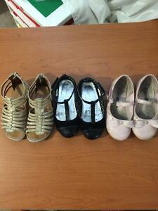 3 pairs girls size 9 fancy shoes