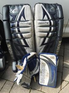 "Goalie pads! 33+1"" with glove and blocker"