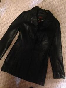 REDUCED PRICE- small  women's black real leather Daniar jacket.