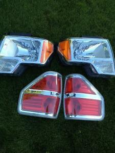 2014 Ford  F150 factory headlights & tail lights.
