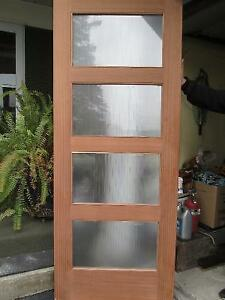 Beautiful Solid Wood Door with Glass Windows West Island Greater Montréal image 1