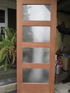 Beautiful Solid Wood Door with Glass Windows
