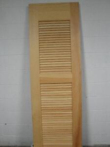 "***Solid Clear PIne Louvered Interior Door 24 X 80 "" ***"
