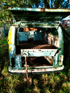 Kombi 74 shell, a few small dents and a little rust