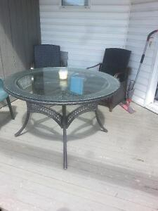 """48"""" Glass Top Table"""