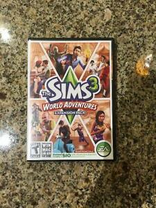 Sims 3 World Adventures Expansion Pack+Box/Paperwork