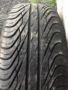 4 pneus 195/65r15 general