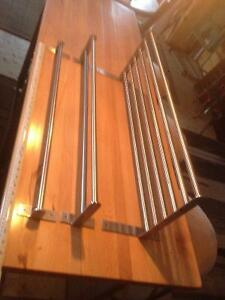 3 Ikea Grundtal stainless steel kitchen shelves