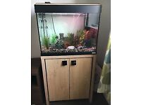 90L Fluval fish tank plus matching stand for sale as new