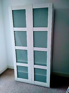 white Ikea Pax Wardrobe - good condition