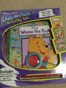 Winnie the pooh look and find activity set - erasable Cambridge Kitchener Area image 1