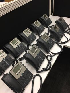 10x Cisco SPA504G IP Office Phones - Price Reduced For Quick Sale