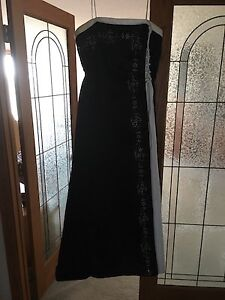 Beautiful Beaded Black and White Gown