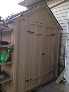 8 foot by 6 foot wooden garden shed