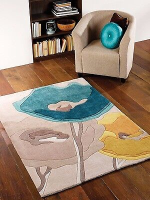 Flair Rugs Infinite Poppy in Teal/Yellow, 80 x 150